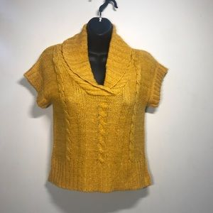 CONFESS Short Sleeve Cropped Sweater, Size Small